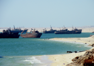 Image of a ships graveyard in Nouadhibou, Mauritania. Image by slosada/Flickr